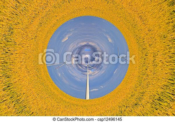 Clean energy concept - csp12496145