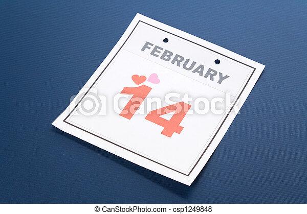 calendrier,  valentine\\\'s, jour - csp1249848