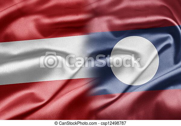 Austria and Laos - csp12498787