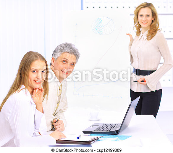 A group of good businessmen discus - csp12499089