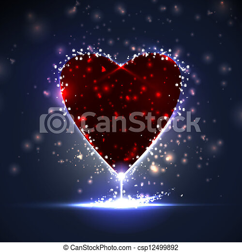 Futuristic heart, abstract background, vector illustration eps10 - csp12499892