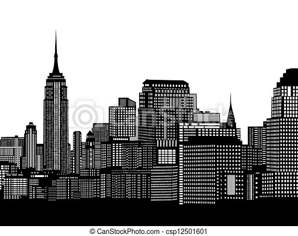City skyline - csp12501601