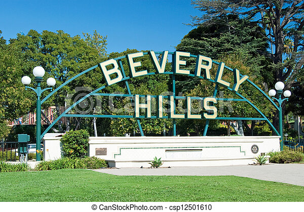 Beverly Hills sign in Los Angeles park - csp12501610