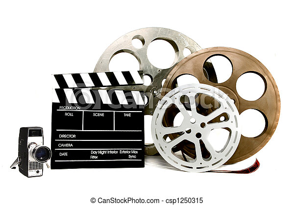 Studio FIlm Related Items on White - csp1250315