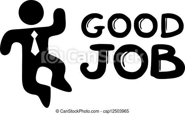 Clip Art Vector of Good job