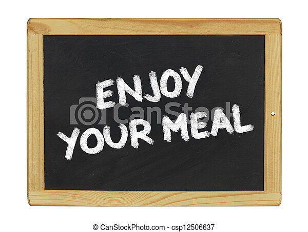 Stock Photos Of Enjoy Your Meal On A Blackboard