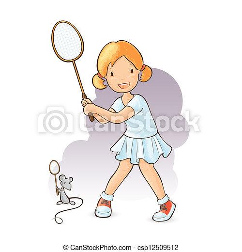 Badminton Players Girls Girl Playing Badminton
