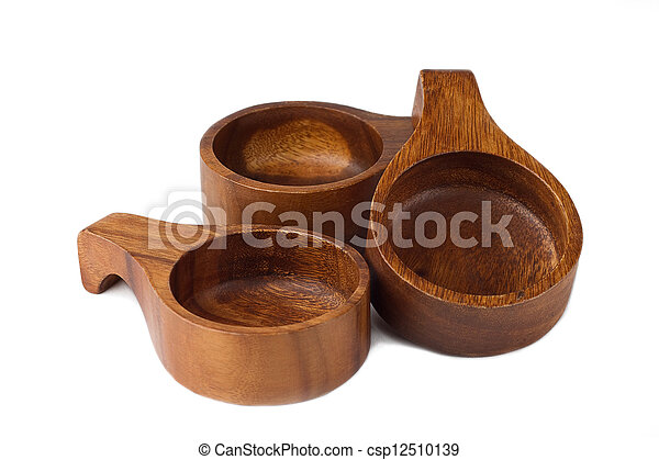 Stock Photos of Wooden bowl isolated on white csp12510139 ...
