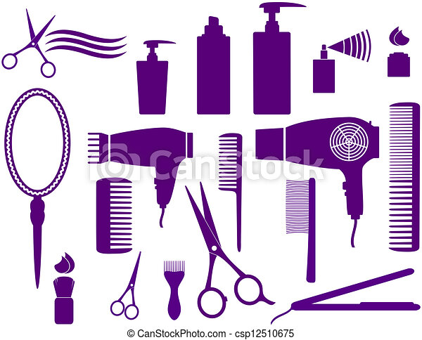 set of hairstyling objects - csp12510675