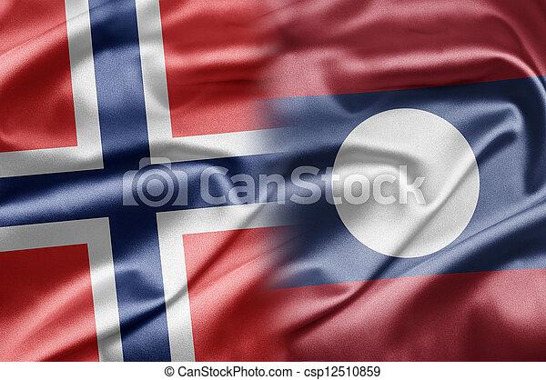 Norway and Laos - csp12510859
