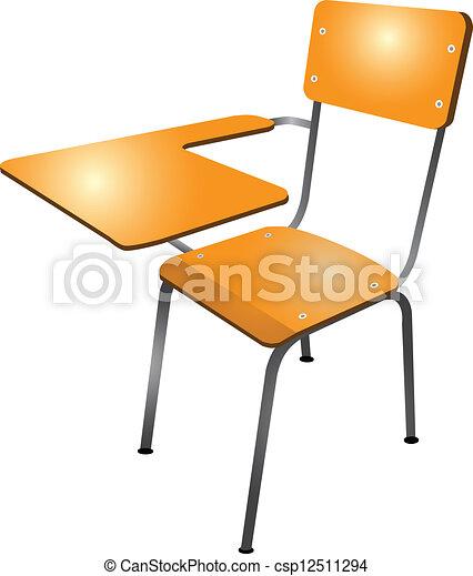 Student Desk Icon School desk - csp12511294