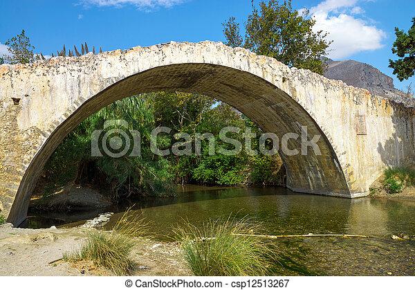 Historic stone bridge, Crete - csp12513267