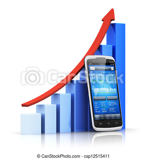 Mobile banking and finance concept - csp12515411