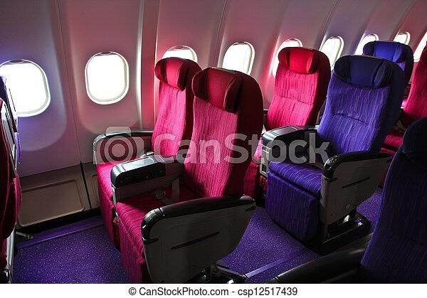 飞机, 座位csp12517439的照片-搜索库存