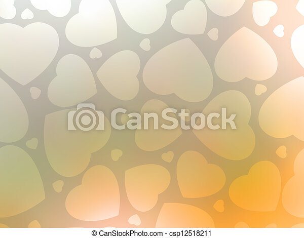 Valentine's day background with hearts. EPS 8 - csp12518211