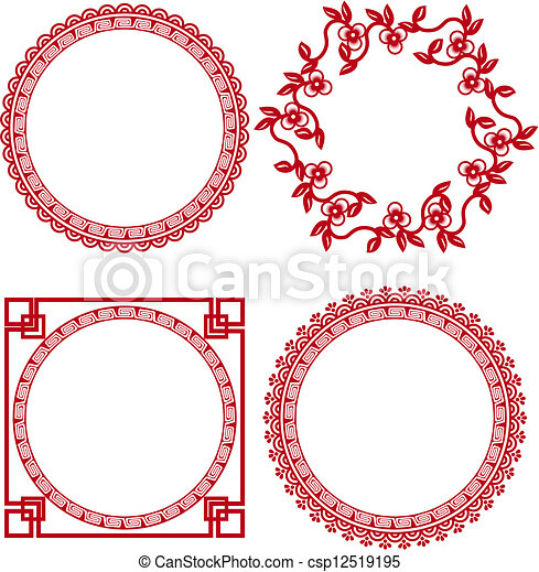 Chinese Graphics Vector Vector Chinese Ornamental