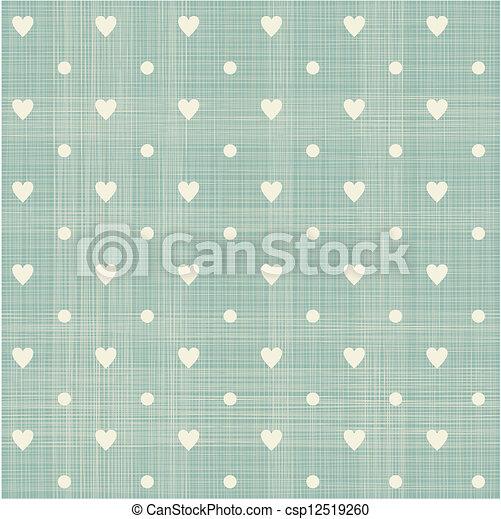 seamless hearts polka dot pattern - csp12519260