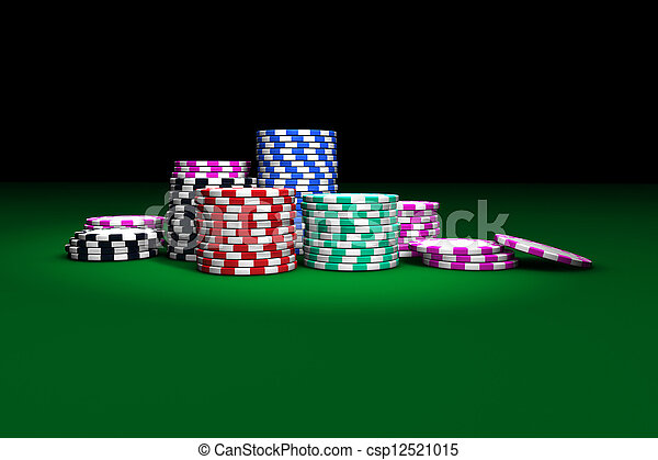 Gambling Casino Chips - csp12521015