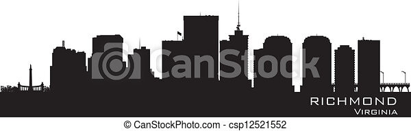 Richmond, Virginia skyline. Detailed city silhouette - csp12521552