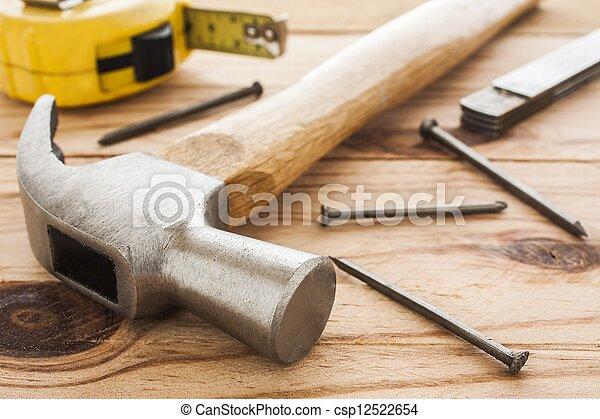 herramientas, carpintero - csp12522654