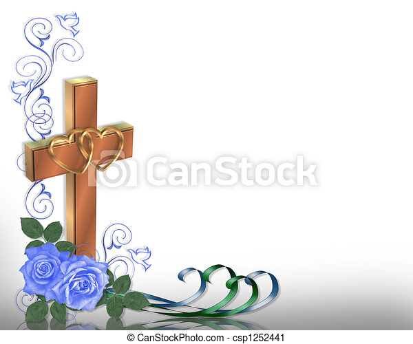 Stock Illustration Christian Wedding invitation