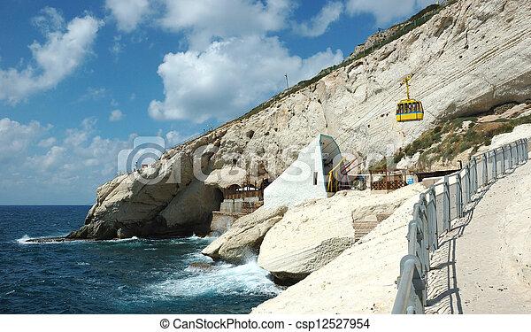 Famous landmark Rosh ha nikra cape - csp12527954