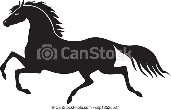 Galloping Horse Silhouette Galloping Horse a Silhouette