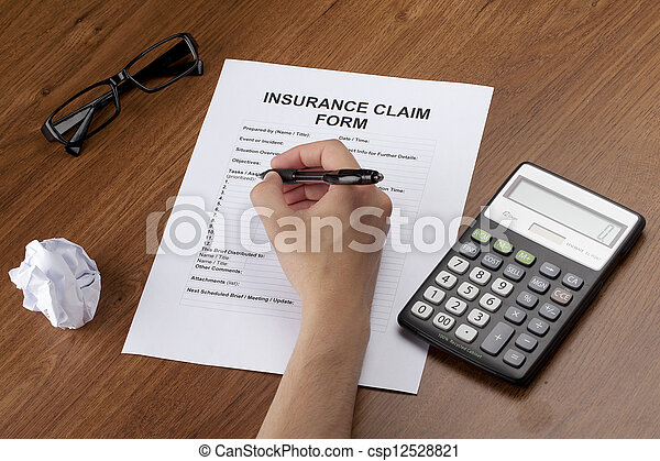hand filling insurance - csp12528821