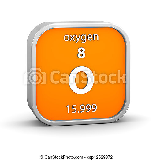 Oxygen material sign - csp12529372