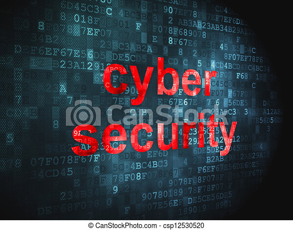 Security concept: Cyber Security on digital background - csp12530520