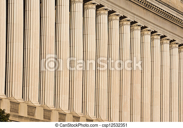 Columns Support Roof of Government Building - csp12532351