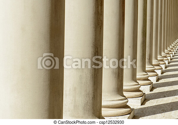 Pillars in a Row - csp12532930