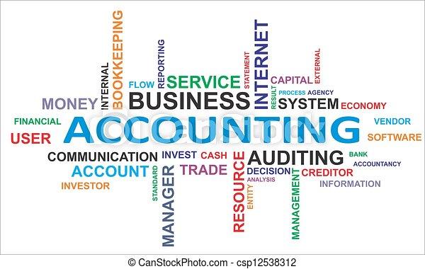 palavra,  -, nuvem, contabilidade - csp12538312