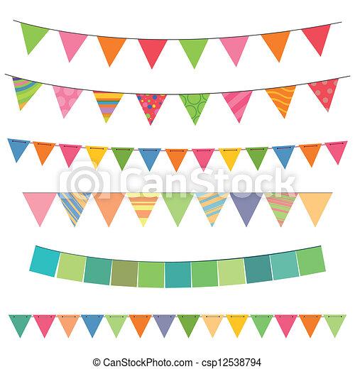 Eps vectores de colorido guirnaldas vector ilustraci n for Guirnaldas para imprimir