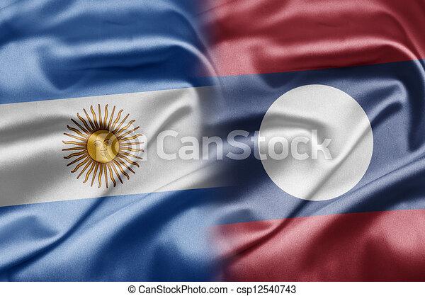Argentina and Laos - csp12540743
