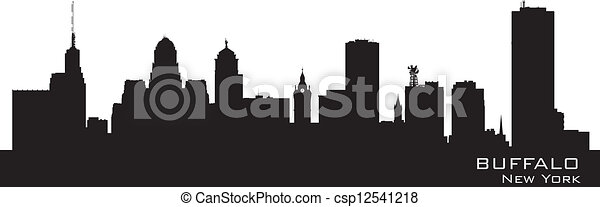 Buffalo, New York. Detailed city silhouette - csp12541218