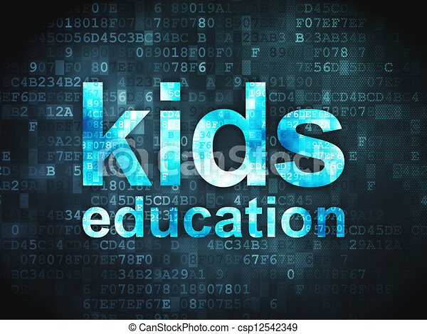 Education concept: Kids Education on digital background - csp12542349