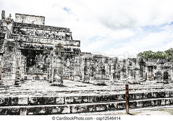 Historic place in Chichen Itza Mexico  - csp12546414