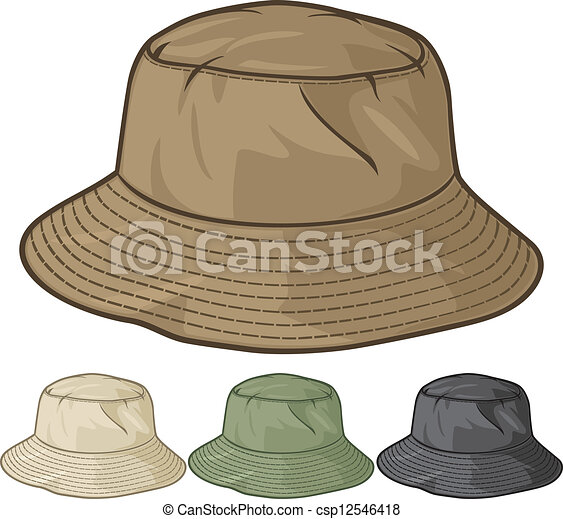 vector clip art of bucket hat collection  bucket hat set chef clip art free printable images chef clipart free