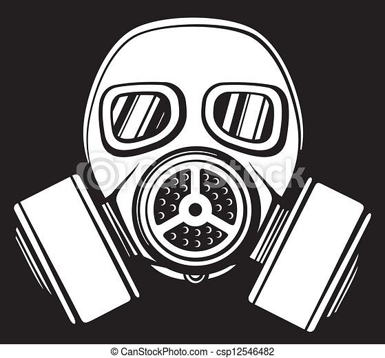 Army Gas Mask Drawing Vector Gas Mask Army Gas