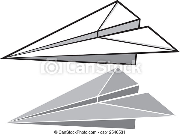 paper plane stock illustration - photo #4