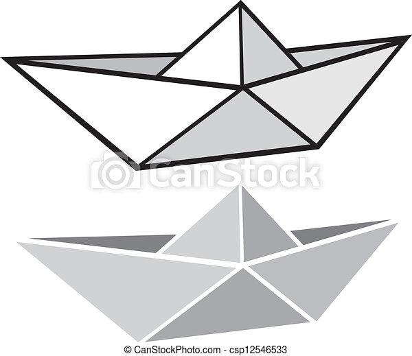 Vectors of origami paper boat (origami paper ship ...