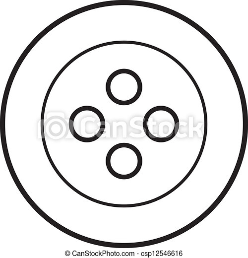 Vector Clip Art of white sewing button csp12546616 - Search ...