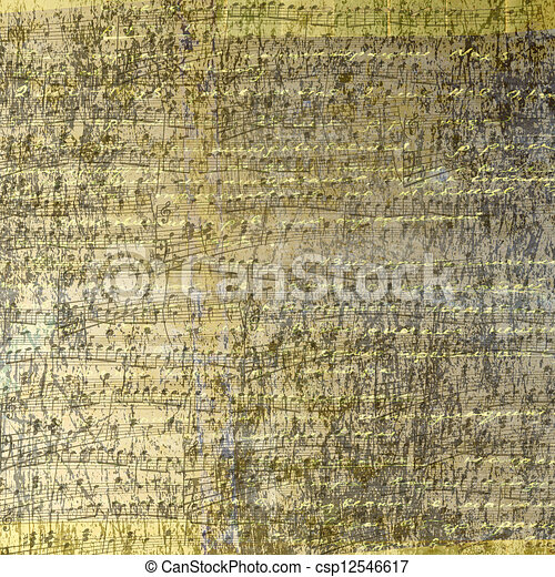 Grunge old paper design in scrapbooking style with handwriting - csp12546617