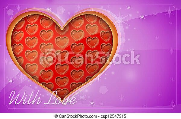 Valentine's Day card - csp12547315