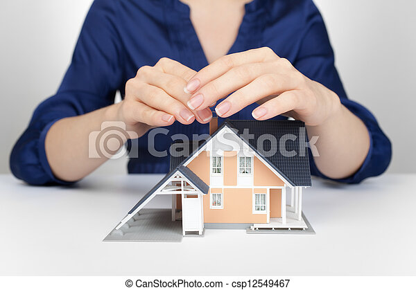 Protect house - insurance concept - csp12549467