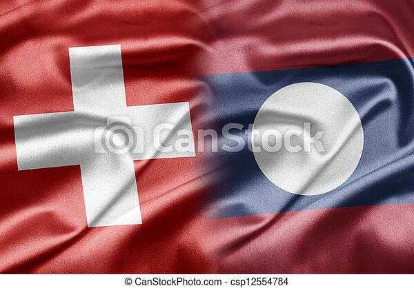 Switzerland and Laos - csp12554784