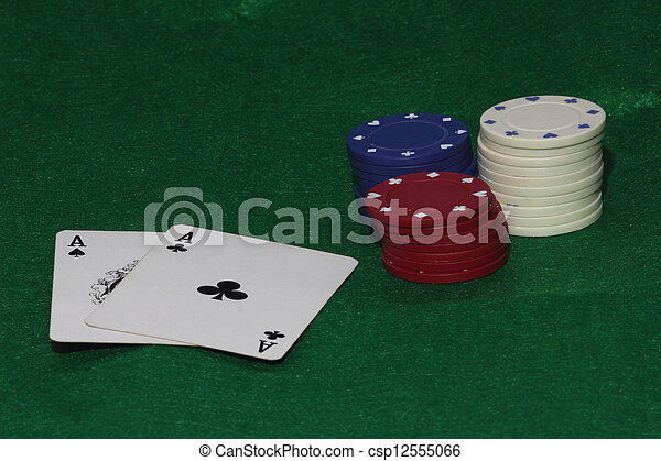 Cards and Gambling Chips - csp12555066