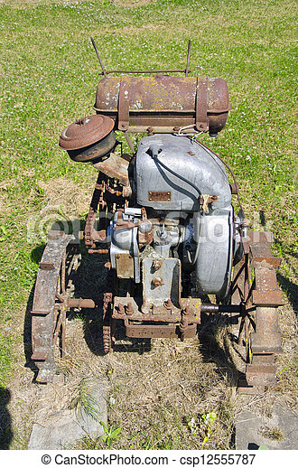 old agriculture motor in farm - csp12555787