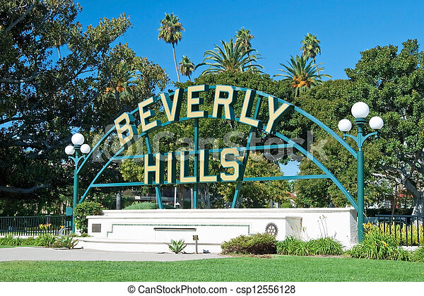 Beverly Hills sign in Los Angeles park - csp12556128